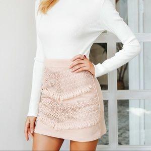Dresses & Skirts - Chavive Elegant Tassel Suede Skirt